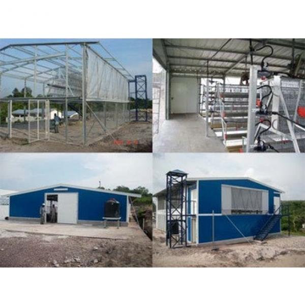 steel structure battery cages laying hens house #1 image