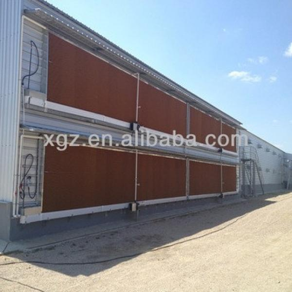 Chinese pre-fabricated steel chicken house #1 image