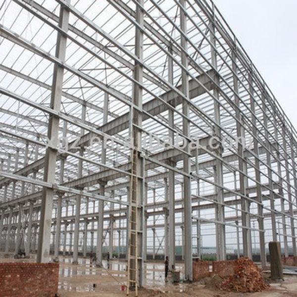 Big span light steel frame/prefab steel warehouse/prefab steel factory #1 image