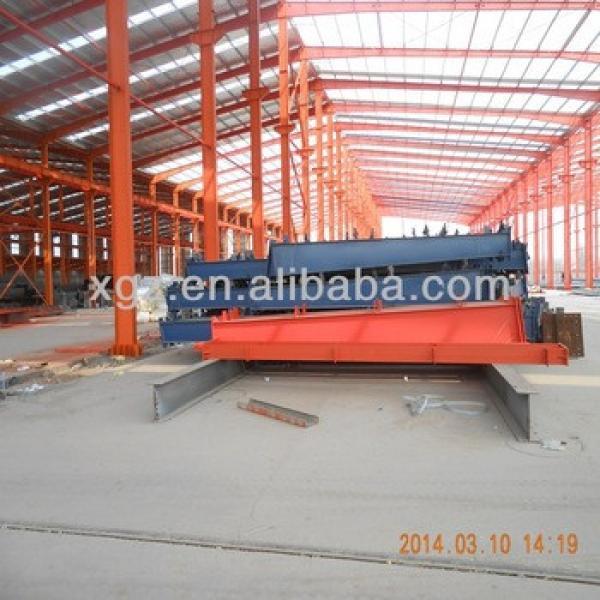 Steel frame supported steel structure for mezzanine workshop #1 image