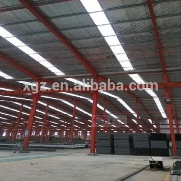 steel structure warehouse with skylights panel #1 image
