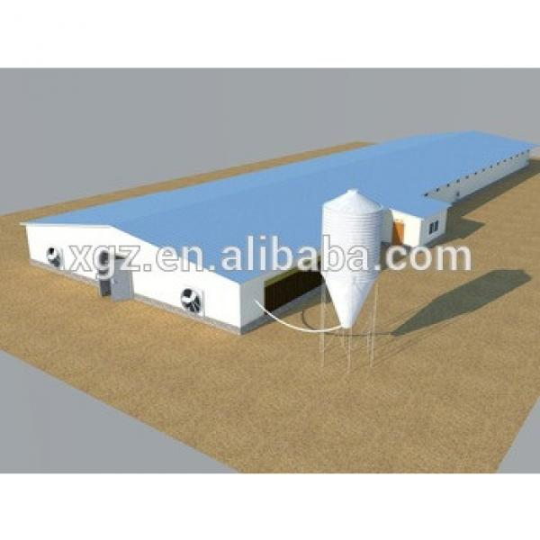 China steel broiler/layer/breeder chicken shed/farm make manufacture #1 image