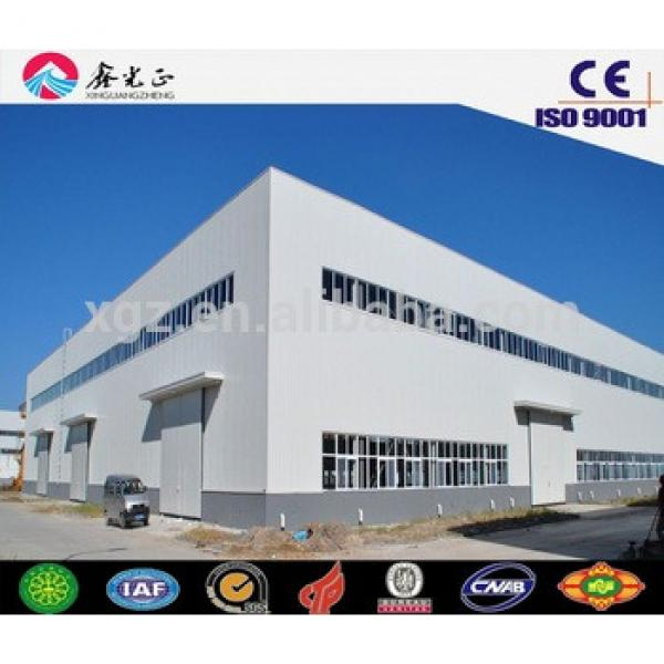 Large span Metal material steel structure building/warehouse/workshop/hangar #1 image