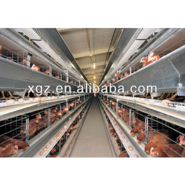 layer egg chicken house/steel frame poultry metal chicken shed #1 image