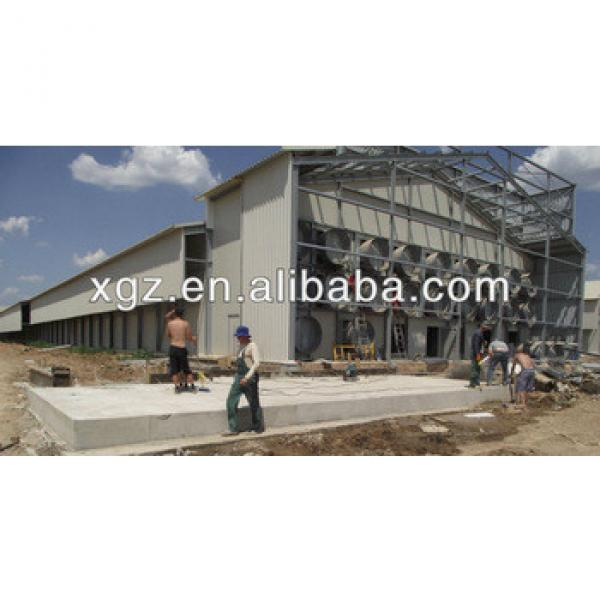 Professional design steel structure pig house #1 image