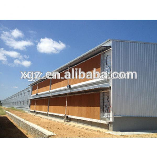 light weight prefabricated steel structure chicken house for sale #1 image