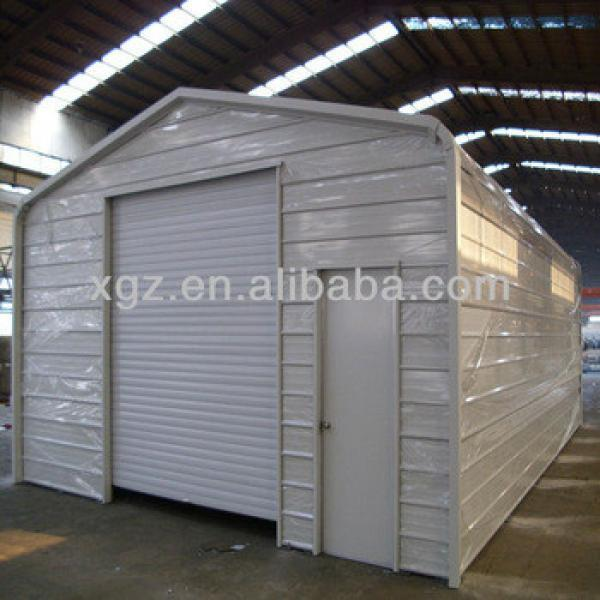 prefab steel building of garage #1 image