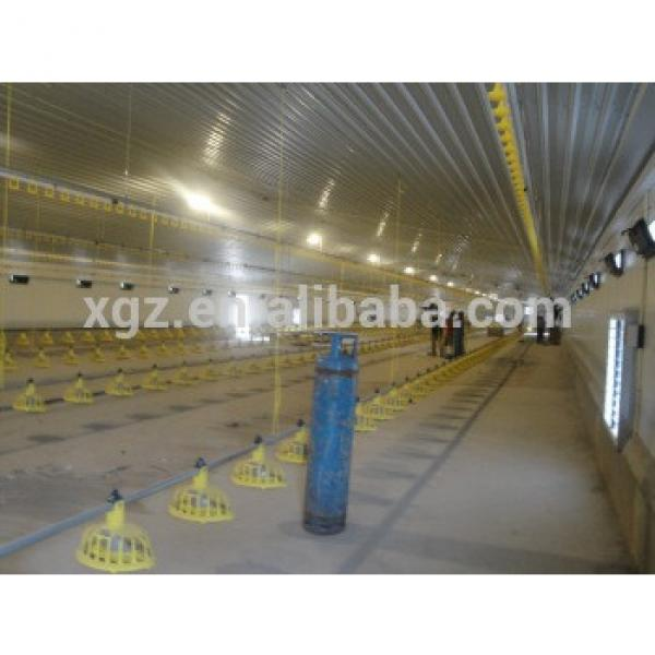 cheap galvanized steel structure poultry house #1 image