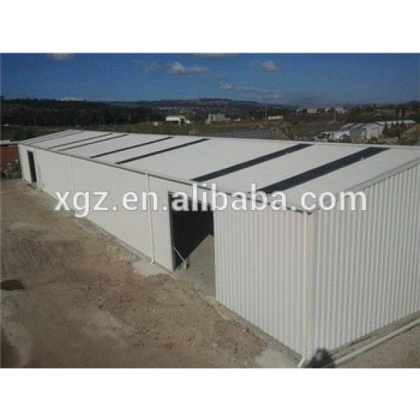 prebuilt fast erection curved roof design structural steel shed #1 image