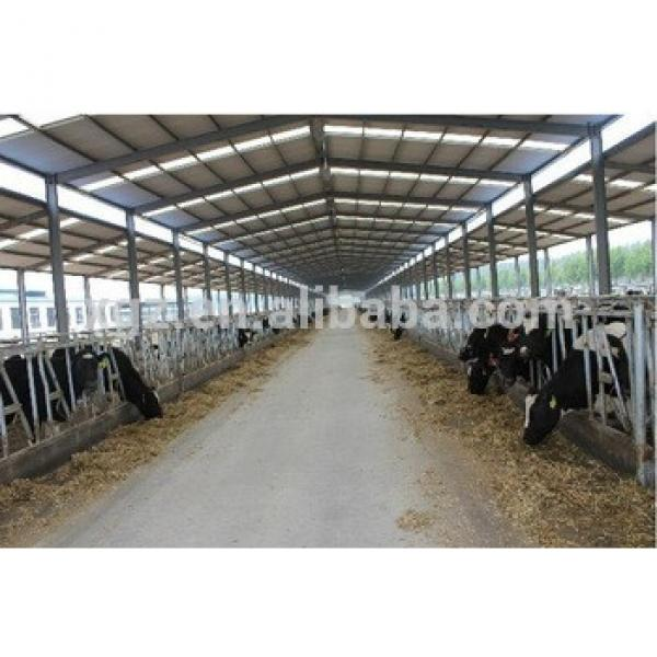 warm keeping prefabricated steel structure stables for cow #1 image