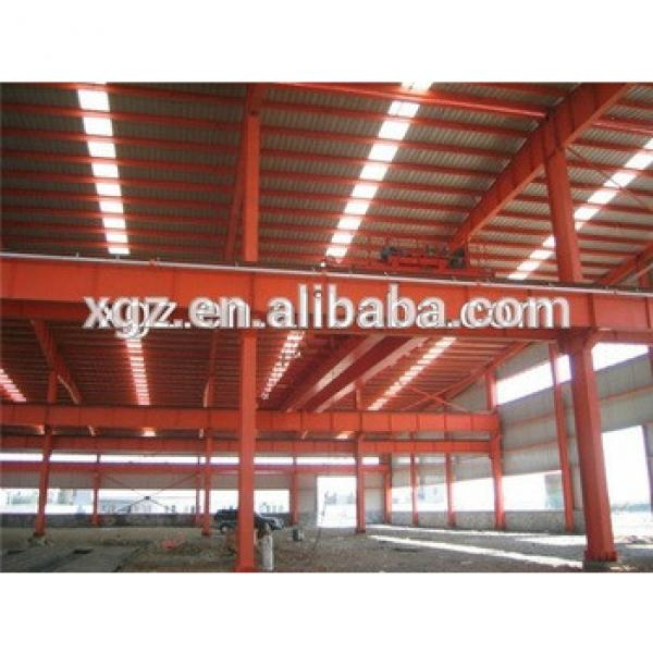 prebuilt high strength steel structure workshop with offices #1 image