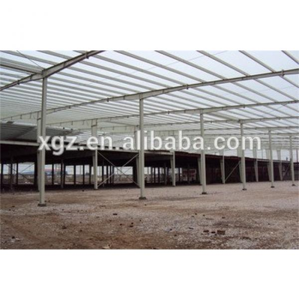 custom made rockwool sandwich panel steel structure building / workshop factory #1 image