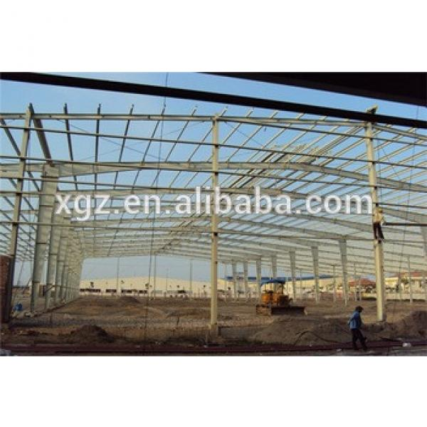 prefabricated metal cladding high quality design steel structure workshop #1 image