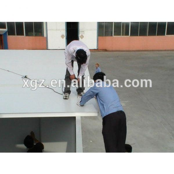 Flat roof steel structure low price prefabricate house #1 image