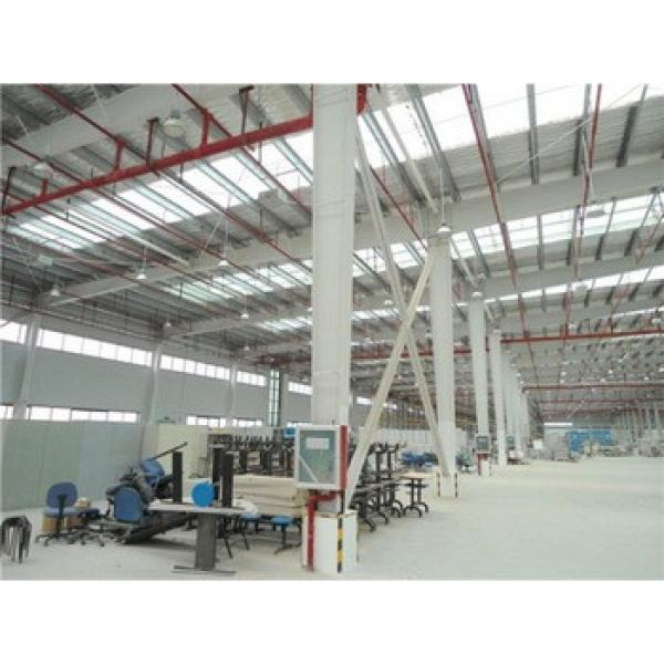 high strength pre-made sandwich type steel structure factory workshop #1 image