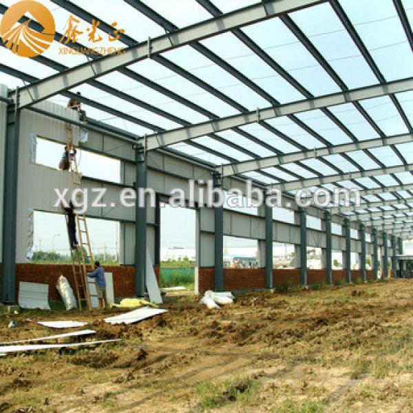 Low cost prefabricated shed steel shade structure easy assembled warehouse for sale #1 image