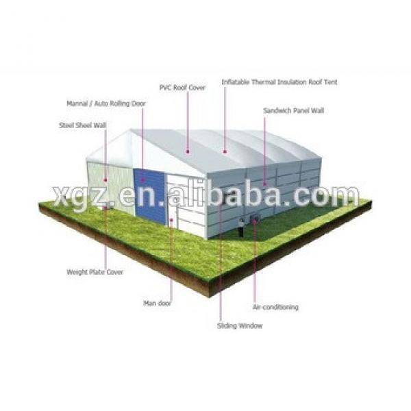Aircraft light steel frame hangar construction #1 image