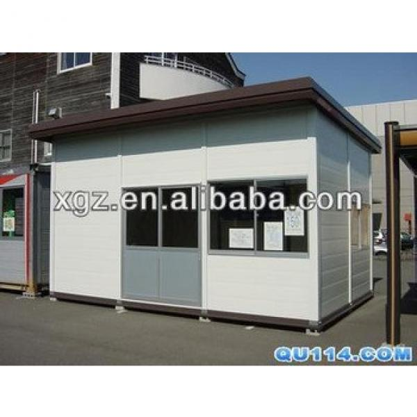 Flat roof mini size steel structure prefabricated house #1 image