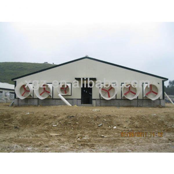 simple prefab metal steel chicken house sheds for layer and broiler prices and design supplier in china #1 image