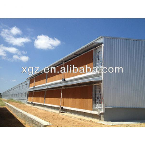 steel frame Automatic poultry farming design for broiler layer chicken house/shed #1 image