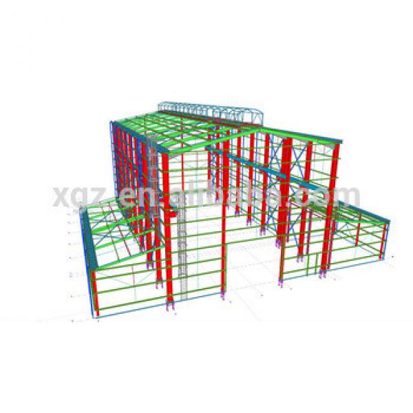 Shock Resistant High Quality Prefab Steel Frame Warehouse Shed #1 image