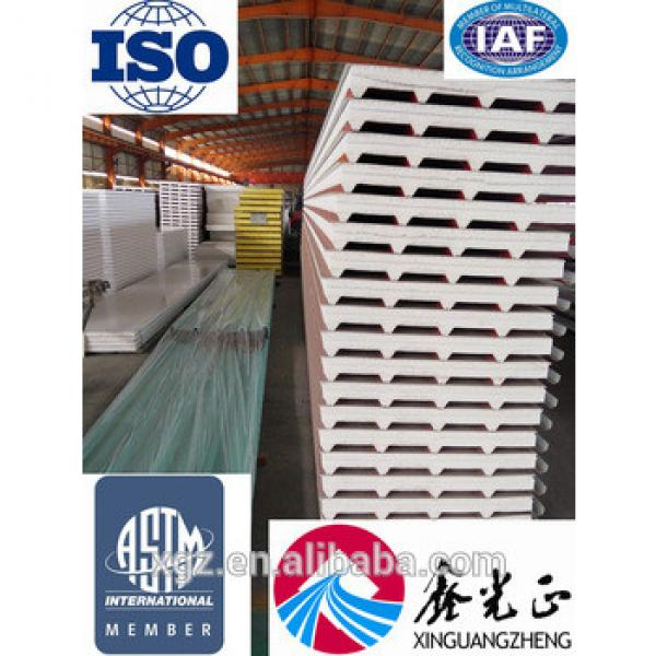 steel structure warehouse wall and roof EPS/PU rock wool sandwich panel board used for steel house #1 image