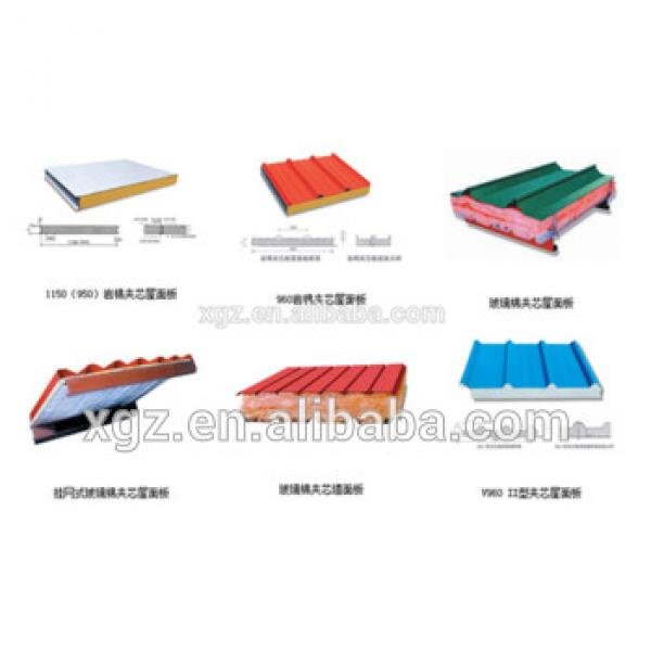 warehouse wall and roof EPS/PU rock wool sandwich panel board used for steel house #1 image