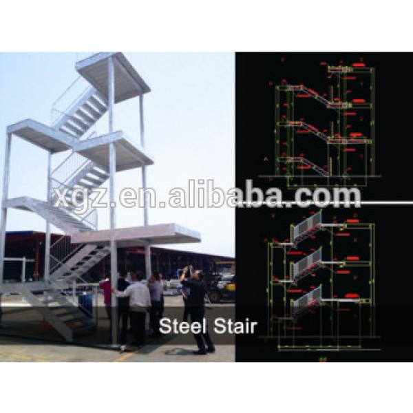 Modern professional design galvanized steel staircase for small space #1 image