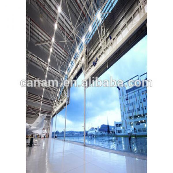 PVC or PU Insulation Hangar Steel Folding Door #1 image