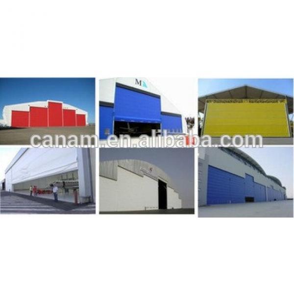 PU-Panel Insulation Automatic Sliding Aircraft Garage Door #1 image