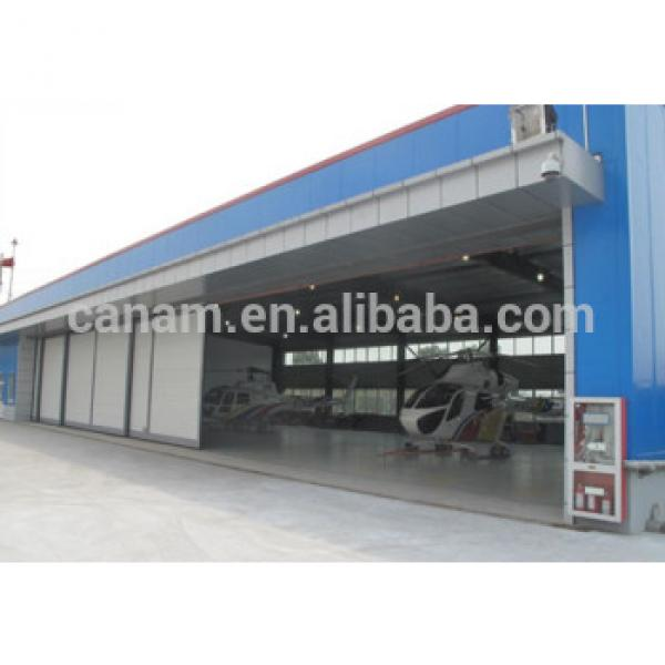 Steel structure automatic sliding aircraft hangars doors #1 image