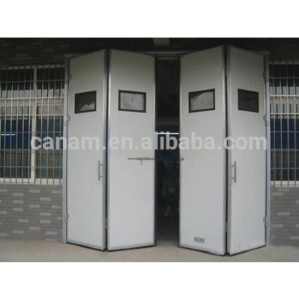 high quality industrial electric folding door large steel panel garage door #1 image
