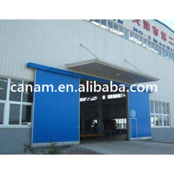 Industrial Manual or Electric Automatic Thermal Insulated Sliding Door with Small Wicket Door #1 image
