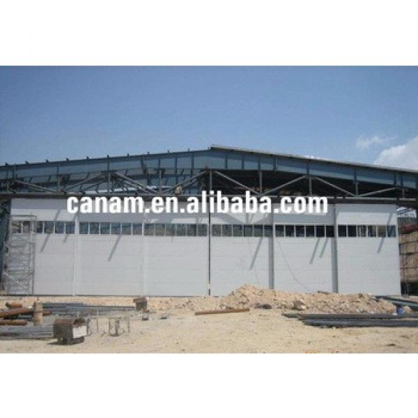 prefabricated steel structure workshop plan portable aircraft hangar #1 image