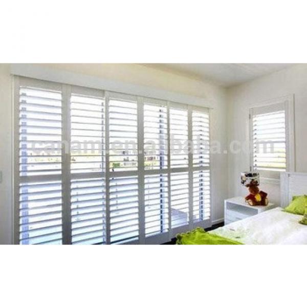 High quality adjustable wooden sliding shutter #1 image