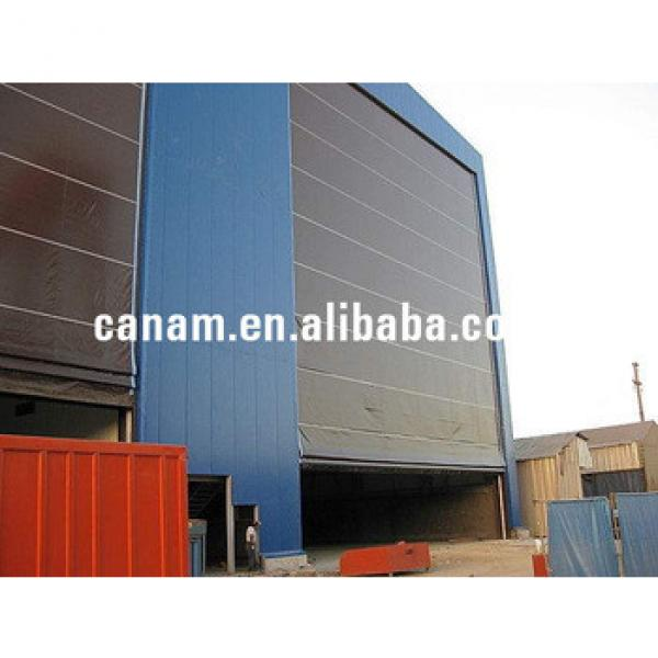 Steel structure price automatic sliding aircraft hangars doors #1 image