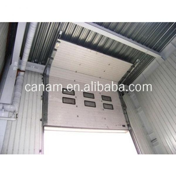 CE automatic color steel PU sandwich panel insulated industrial door,high lifting garage door #1 image