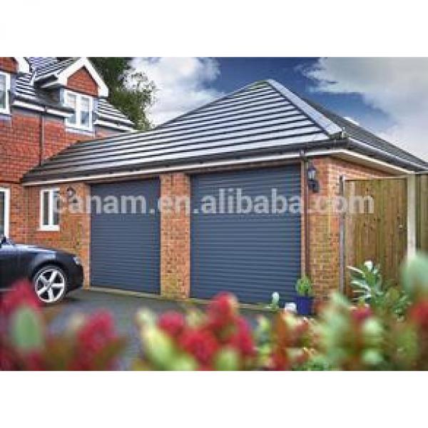 exterior roller shutter door with aluminium double layer slats #1 image