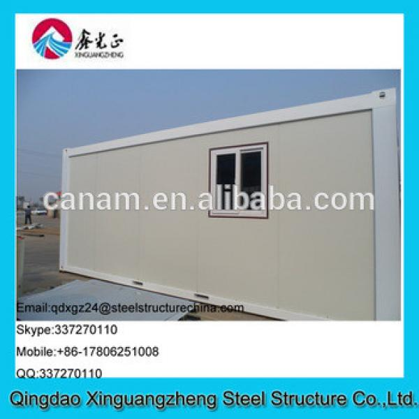 20ft flat pack sandwich panel frame and flat roof container house #1 image
