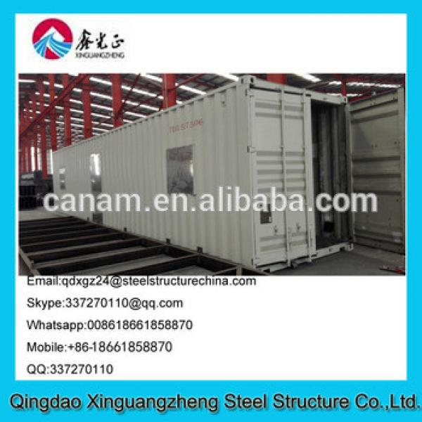 Prefab designed sandwich panel frame container guest house #1 image