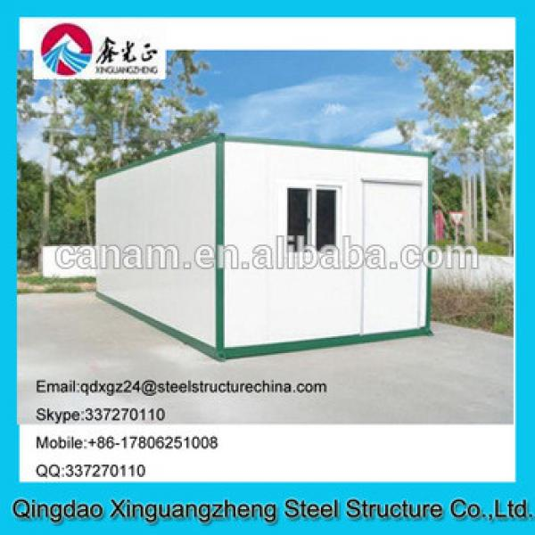 Flat pack container storage house low price with slide windows #1 image