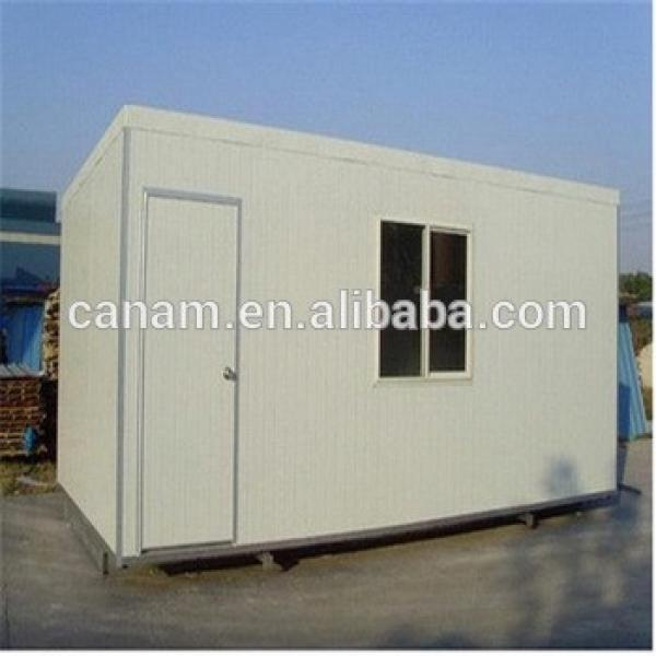 Grey Modular 20ft Small Container House with Glass Door and Plastic Steel Window #1 image