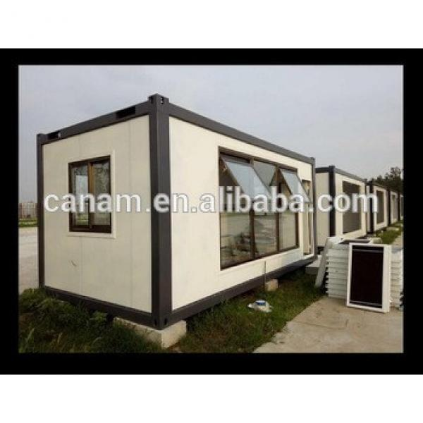 Prefabricated low cost China container house, portable flat pack container house for Africa #1 image