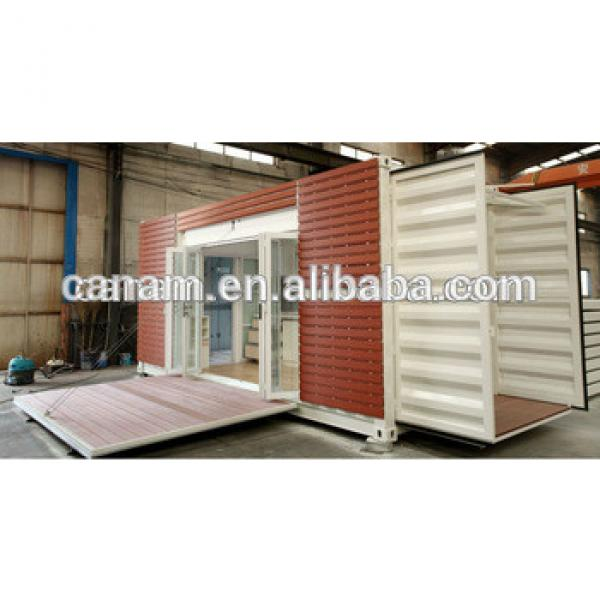 container bamboo house prefabricated wall cladding in Saudi Arabia with wheels #1 image