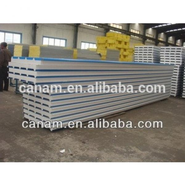 Cheap and strong construction steel prefabricated house by eps sandwich panel #1 image