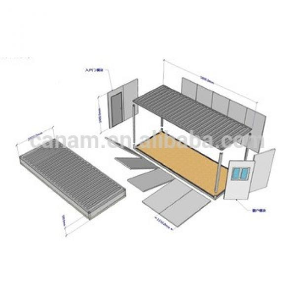 easy build and rebuild 70 square meter prefab house #1 image