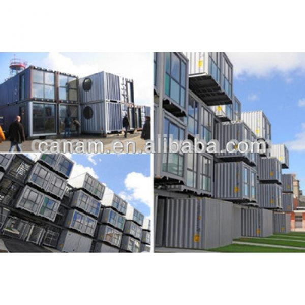 20ft EPS sandwich panel container house for dormitory, low cost prefabricated container hotel design #1 image
