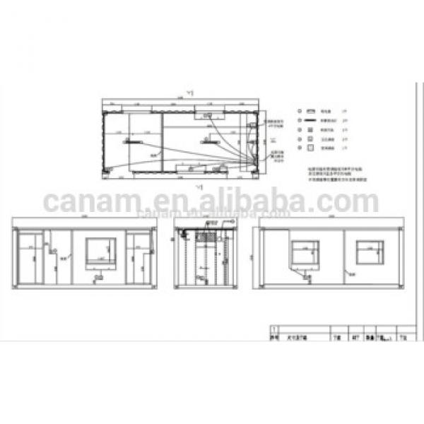 prefab flatpack office/one side folded/living room/ container house #1 image