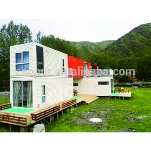 low cost two-storey prefabricated steel house/flatpack office container #1 image