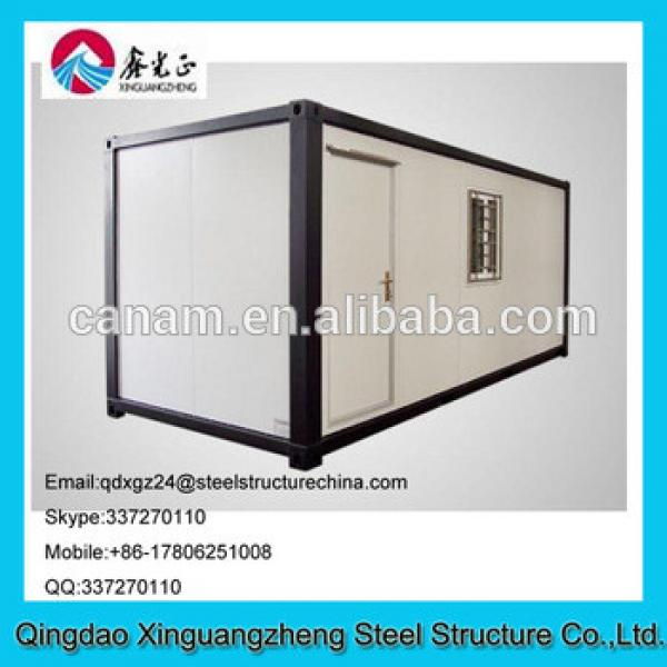 EPS sandwich panel roof and steel frame container living house for dormitory #1 image